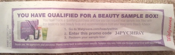 Walgreens Beauty Sample Box