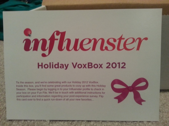 Influenster Holiday VoxBox 2012 Review