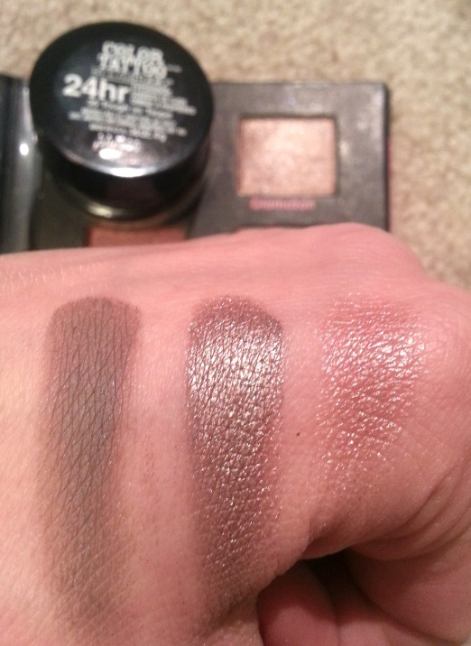Urban Decay Glamazon with Maybelline Color Tattoo in Tough as Taupe