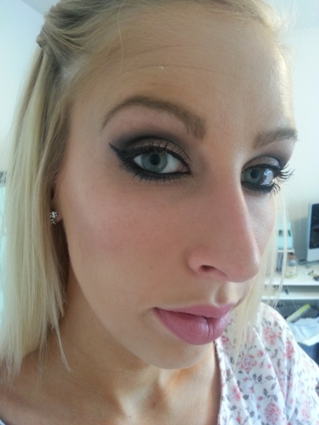 essence long lasting eye pencil, naked palette, maybelline falsies, elf cosmetics FOTD