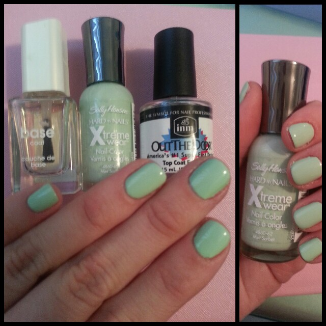 Sally Hansen Xtreme wear Nail Color in Mint Sorbet Swatch & Review ...