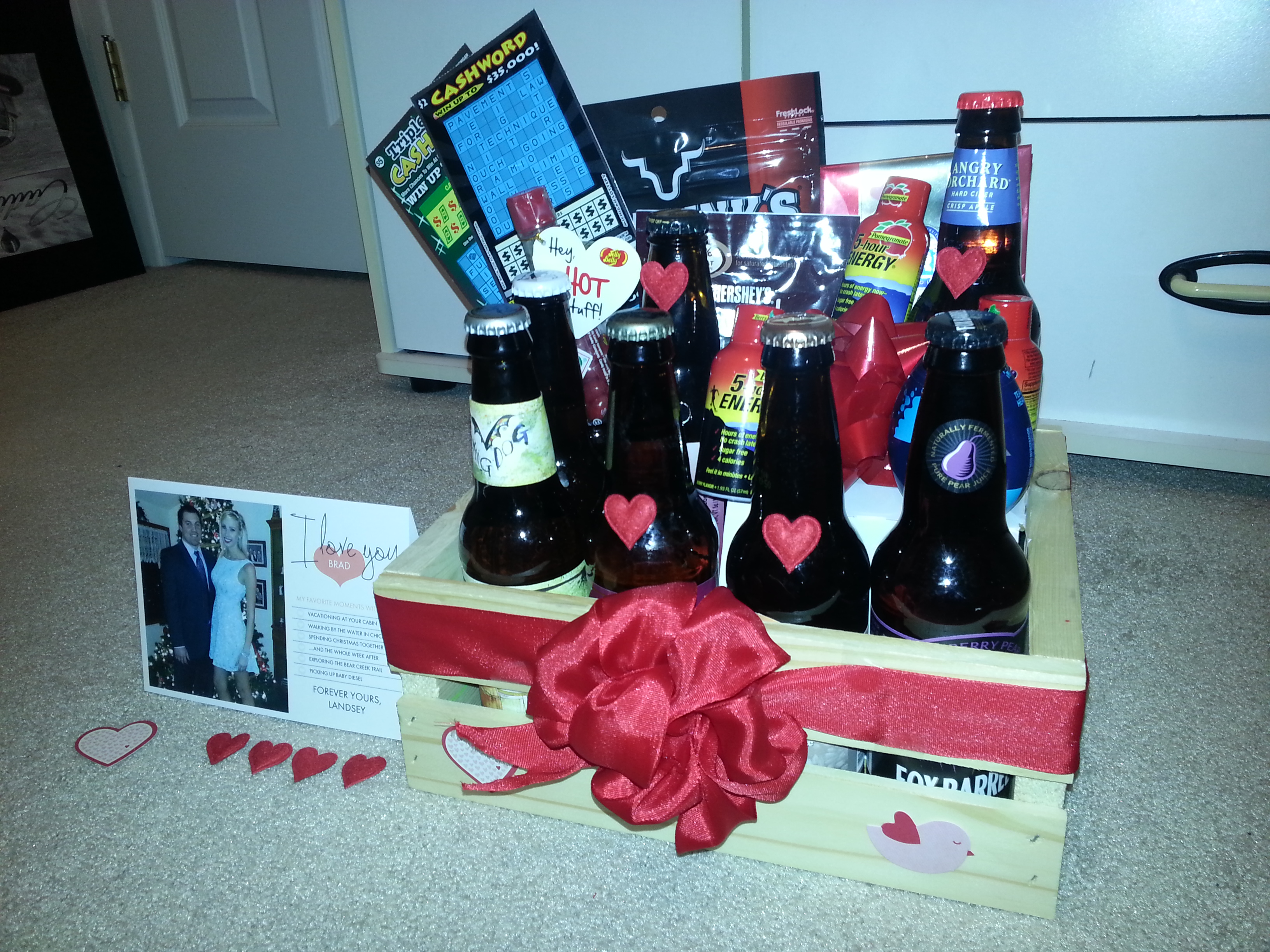 February 2013 burgesslinds diy gift basket with craft beer and cardstore solutioingenieria Images