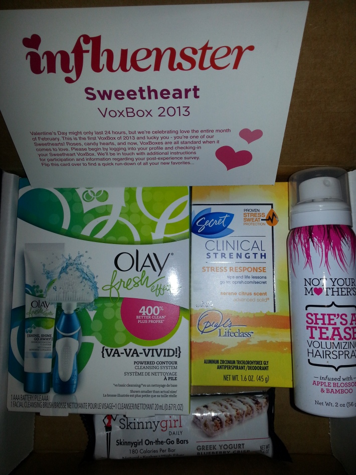 Influenster Sweetheart VoxBox 2013