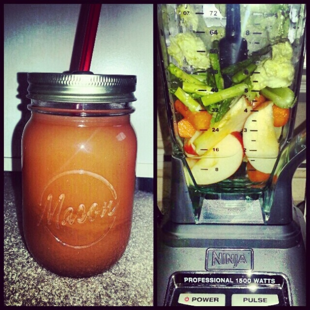 juicing with a ninja blender