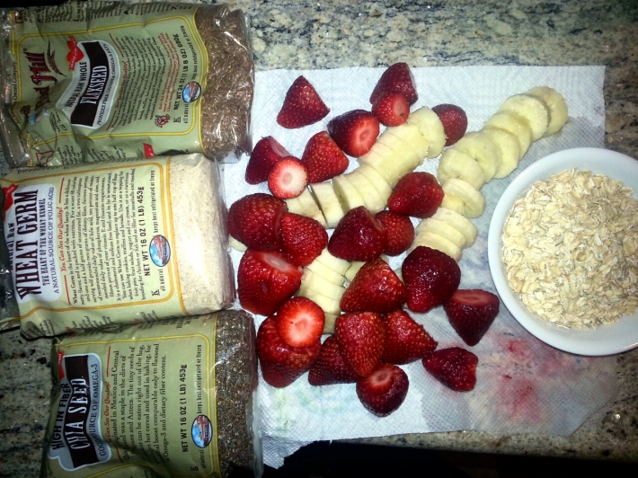 Strawberry-Banana-Oatmeal smoothie