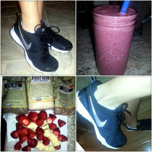 Strawberry Banana Oatmeal Smoothie & Nike In Season TR