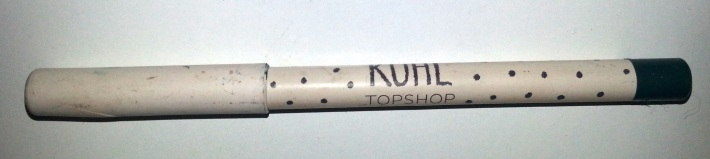 teal kohl eyeliner from Topshop