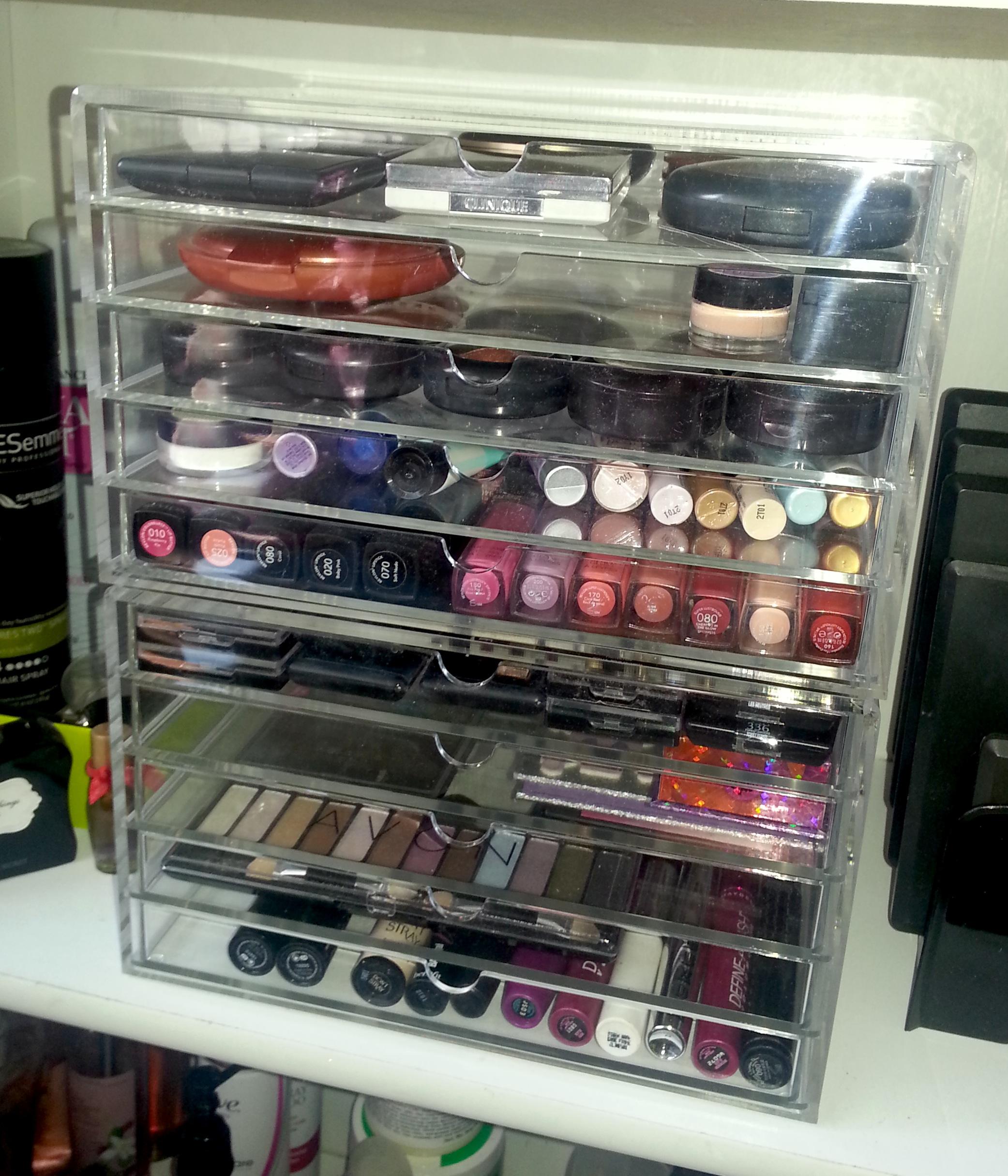 muji 5 drawer acrylic makeup organizer mugeek vidalondon
